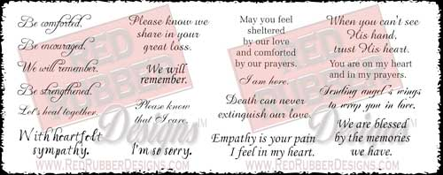 With Sympathy Unmounted Rubber Stamps from Red Rubber Designs