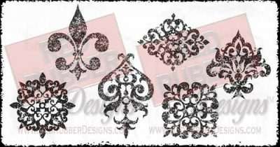 Aged Ornaments Unmounted Rubber Stamps from Red Rubber Designs
