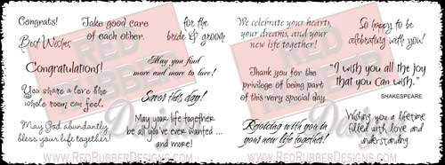 Rejoicing With You Unmounted Rubber Stamps from Red Rubber Designs