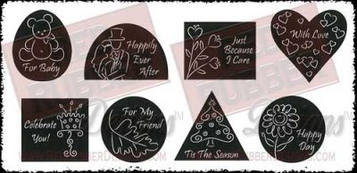All Occasion Icons Unmounted Rubber Stamps from Red Rubber Designs
