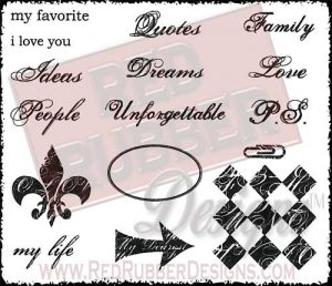 My Life Unmounted Rubber Stamps from Red Rubber Designs