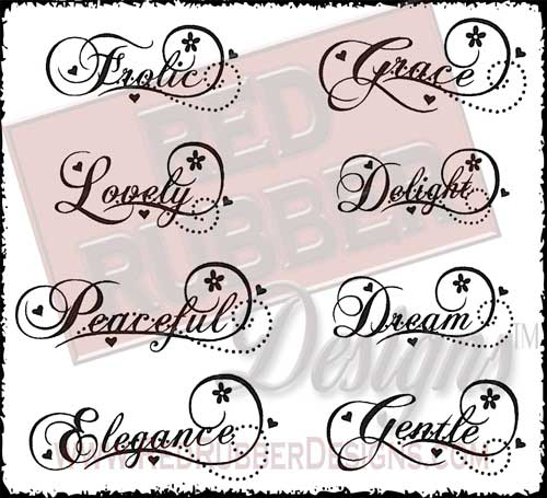 Sweet Swirls Unmounted Rubber Stamps from Red Rubber Designs