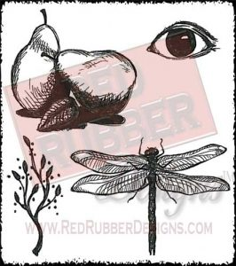 Everyday Eclectic Unmounted Rubber Stamps from Red Rubber Designs