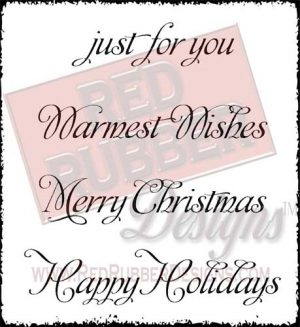 Just For You Unmounted Rubber Stamps from Red Rubber Designs