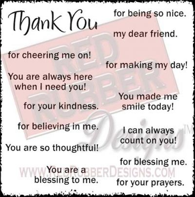 A Blessing To Me Unmounted Rubber Stamps from Red Rubber Designs