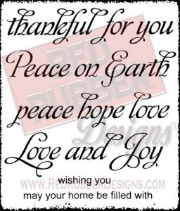 Thankful For You Unmounted Rubber Stamps from Red Rubber Designs