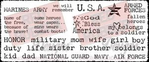 God Bless America Unmounted Rubber Stamps from Red Rubber Designs