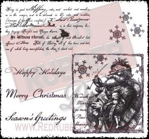 Vintage Santa Unmounted Rubber Stamps from Red Rubber Designs