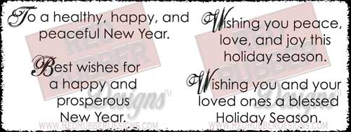 Holiday Wishes Unmounted Rubber Stamps from Red Rubber Designs
