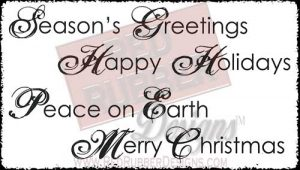 Peace On Earth Unmounted Rubber Stamps from Red Rubber Designs