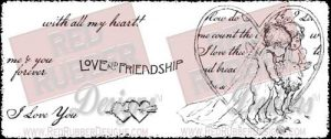 Love and Friendship Unmounted Rubber Stamps from Red Rubber Designs