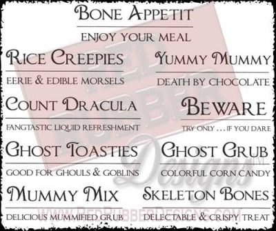Bone Appetit Unmounted Rubber Stamps from Red Rubber Designs
