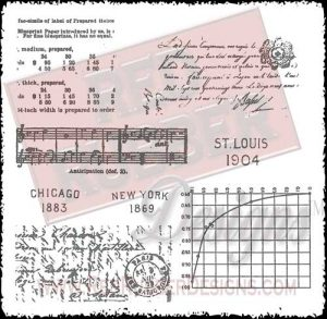 Vintage Backgrounds Unmounted Rubber Stamps from Red Rubber Designs