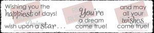 Dream Come True Unmounted Rubber Stamps from Red Rubber Designs