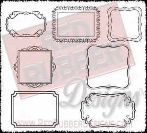 Fabulous Frames Unmounted Rubber Stamps from Red Rubber Designs