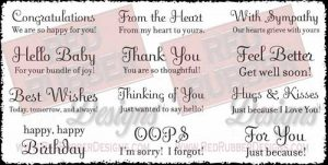 Savvy Sayings Unmounted Rubber Stamps from Red Rubber Designs