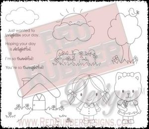 Brighten Your Day Unmounted Rubber Stamps from Red Rubber Designs