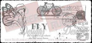 Fly Fairy Unmounted Rubber Stamps from Red Rubber Designs