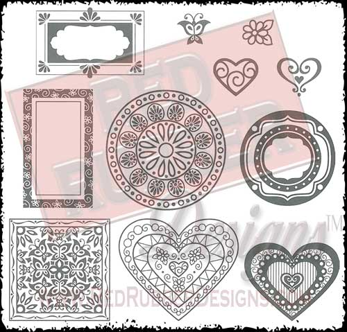 Decorative Designs Unmounted Rubber Stamps from Red Rubber Designs
