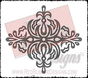 Diamond Ornament Unmounted Rubber Stamp from Red Rubber Designs