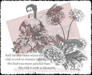 Blossom Unmounted Rubber Stamp from Red Rubber Designs