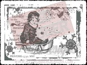 Twinkle In The Eye Unmounted Rubber Stamp from Red Rubber Designs