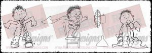 Boys Will Be Boys Unmounted Rubber Stamps from Red Rubber Designs