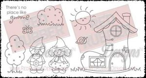 No Place Like Gnome Unmounted Rubber Stamps from Red Rubber Designs