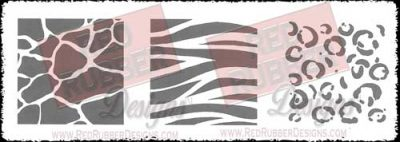 Safari Squares Unmounted Rubber Stamps from Red Rubber Designs