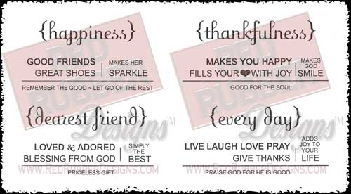 Simply The Best Unmounted Rubber Stamps from Red Rubber Designs