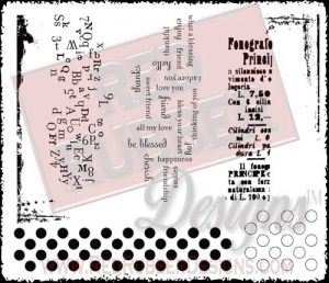 Background Soup Unmounted Rubber Stamps from Red Rubber Designs
