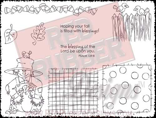 Filled With Blessings Unmounted Rubber Stamps from Red Rubber Designs