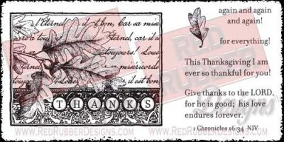 Ever So Thankful Unmounted Rubber Stamps from Red Rubber Designs