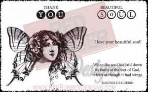 Beautiful Soul Unmounted Rubber Stamps from Red Rubber Designs