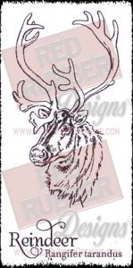 Reindeer Unmounted Rubber Stamps from Red Rubber Design