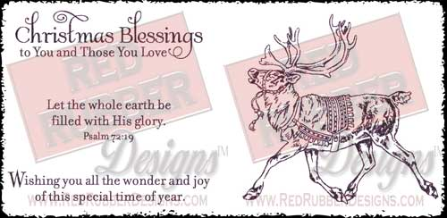With His Glory Unmounted Rubber Stamps from Red Rubber Designs