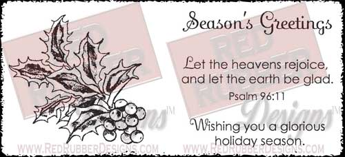 Glorious Holiday Unmounted Rubber Stamps from Red Rubber Designs