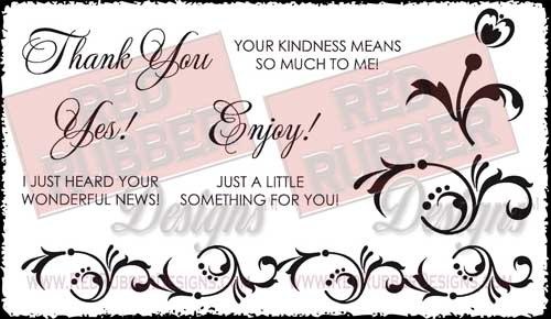 Wonderful News Unmounted Rubber Stamps from Red Rubber Designs