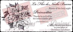 Poinsettia Unmounted Rubber Stamps from Red Rubber Designs