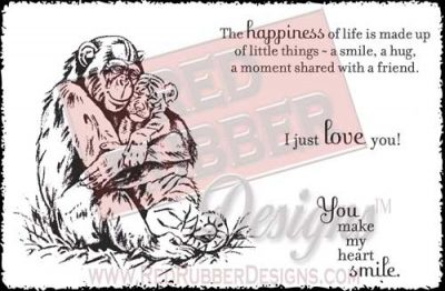 Happiness Of Life Unmounted Rubber Stamps from Red Rubber Designs