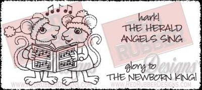 Angels Sing Unmounted Rubber Stamps from Red Rubber Designs