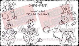 Havin' A Ball Unmounted Rubber Stamps from Red Rubber Designs