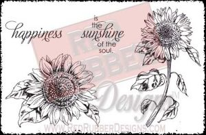 Sunshine Unmounted Rubber Stamps from Red Rubber Designs