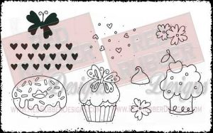 Sweet Day Cupcake Unmounted Rubber Stamps from Red Rubber Designs