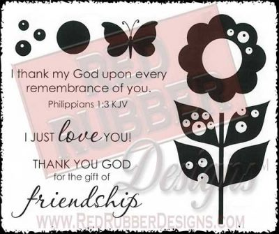 Gift Of Friendship Unmounted Rubber Stamps from Red Rubber Designs