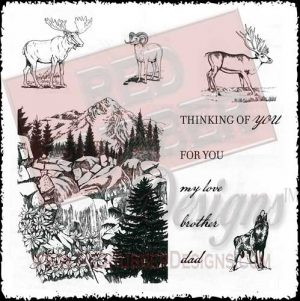 Majestic Mountain Unmounted Rubber Stamps from Red Rubber Designs