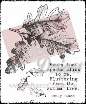 Every Leaf Unmounted Rubber Stamps from Red Rubber Designs