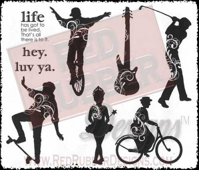 Hey Life Unmounted Rubber Stamps from Red Rubber Designs