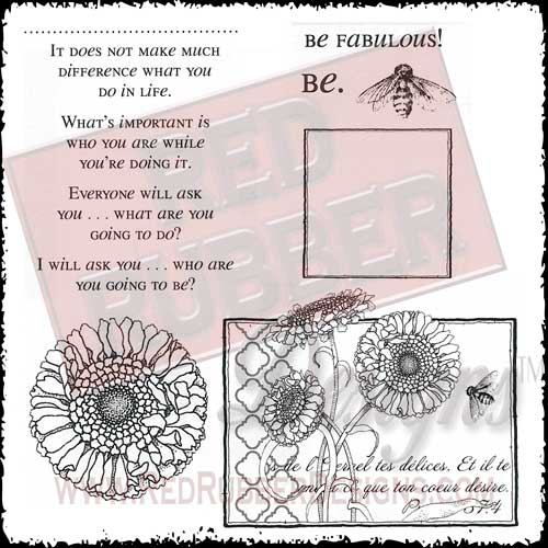 Be Fabulous Unmounted Rubber Stamps from Red Rubber Designs