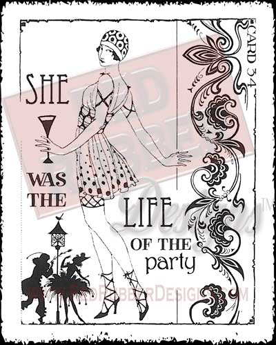 Life Of The Party Unmounted Rubber Stamp from Red Rubber Designs